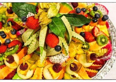 Fruchtiger Obstsalat vom Büffet