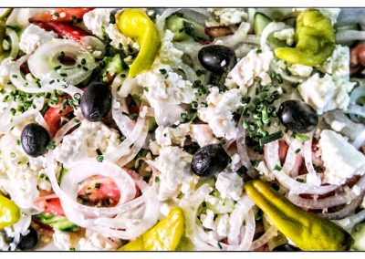 Griechischer Salat vom Buffet